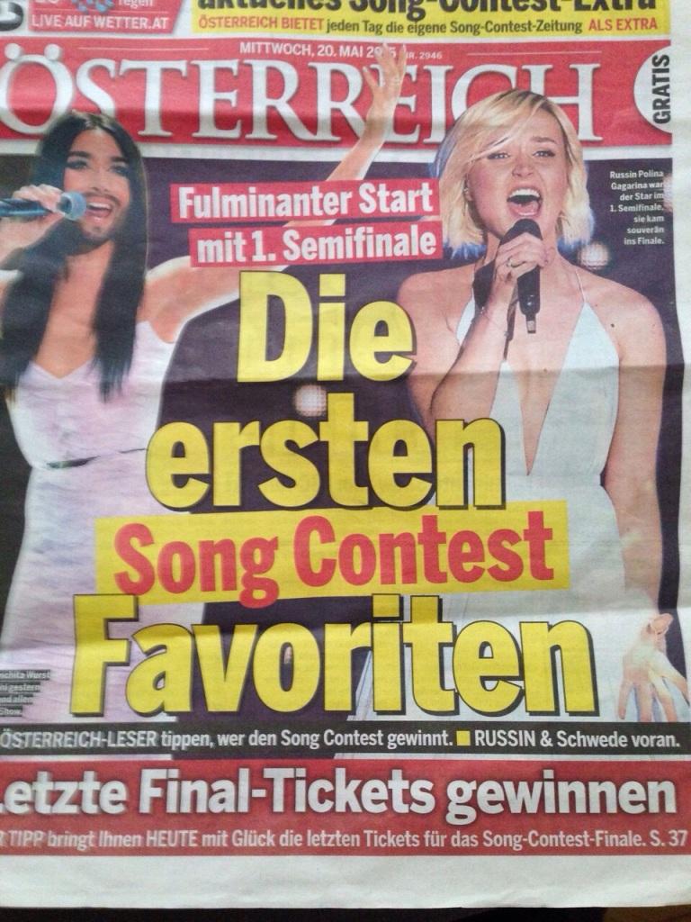 Viyana'da bütün gazeteler Eurovision dolu!